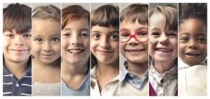 Beautiful kids' smiles