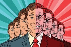 Crowd bad good people. Vintage comics cartoons illustration pop art retro vector